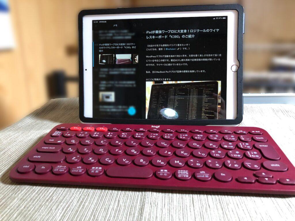 iPadとK380